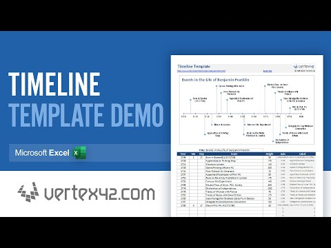 timeline template in excel