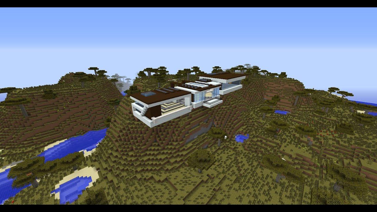 Minecraft : TUTO Maison moderne EP 3 - YouTube