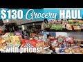 $130 Grocery Haul with Prices | Walmart, Ibotta, Kroger, Trader Joe's