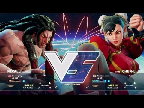 PSNP SFV tournament Losers round 1: Wavergray (Necalli) vs Ramonachan (Chun Li)