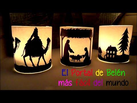 Ideas faciles y baratas para decorar en Navidad, Portal de Belen con velas Isa ❤