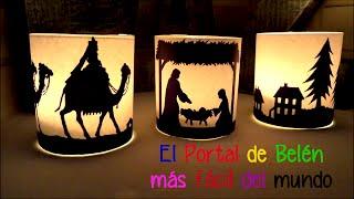 Ideas faciles y baratas para decorar en Navidad, Portal de Belen con velas Isa ❤️