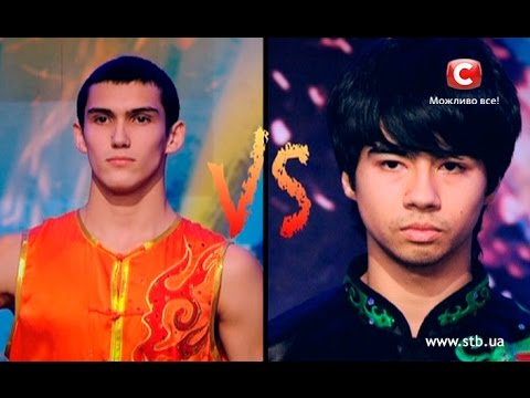 Impressive wushu fight on Ukraine's got talent