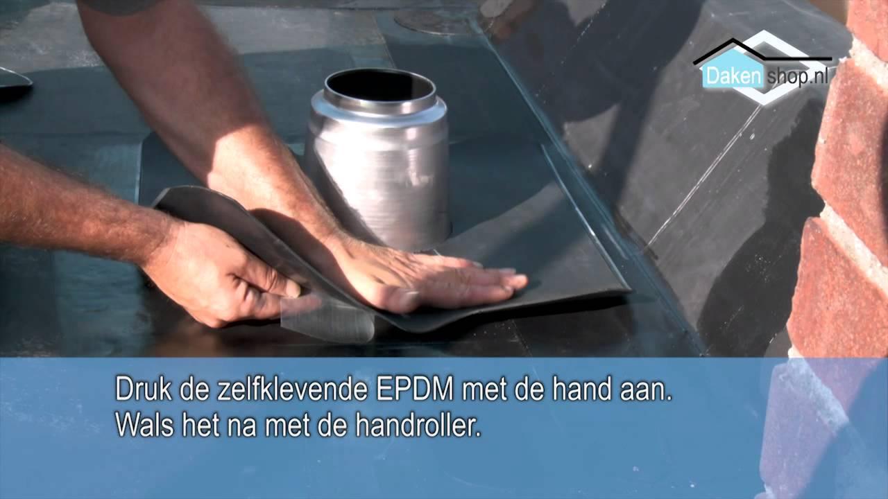 Beroemd Dakenshop EPDM dakbedekking ontluchting / doorvoer inplakken met SA98
