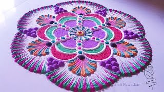 Beautiful Rangoli Design | Easy Way Of Making Rangoli Design | Rangoli Design