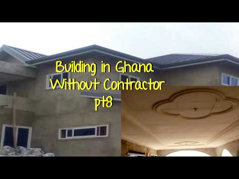 Building In Ghana Pt 8 //P.O.P Ceiling