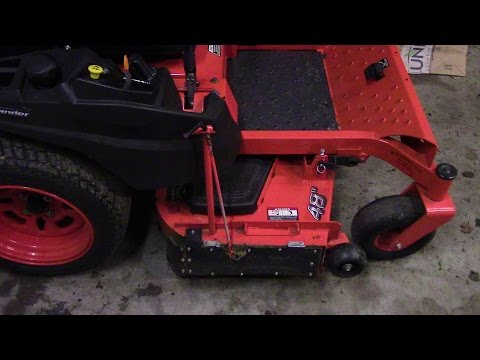 how to make a chute blocker for a zero turn mower