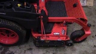 how to make a chute blocker for a zero turn mower