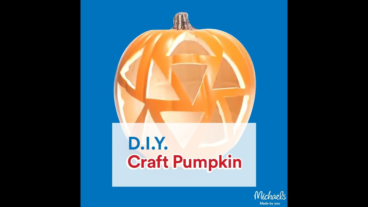 Carve a craft pumpkin pumpkin crafting michaels youtube