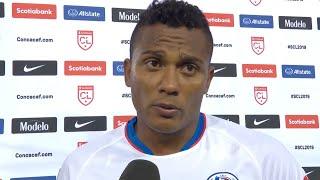 Ever Alvarado de CD Olimpia tras la derrota Forge FC