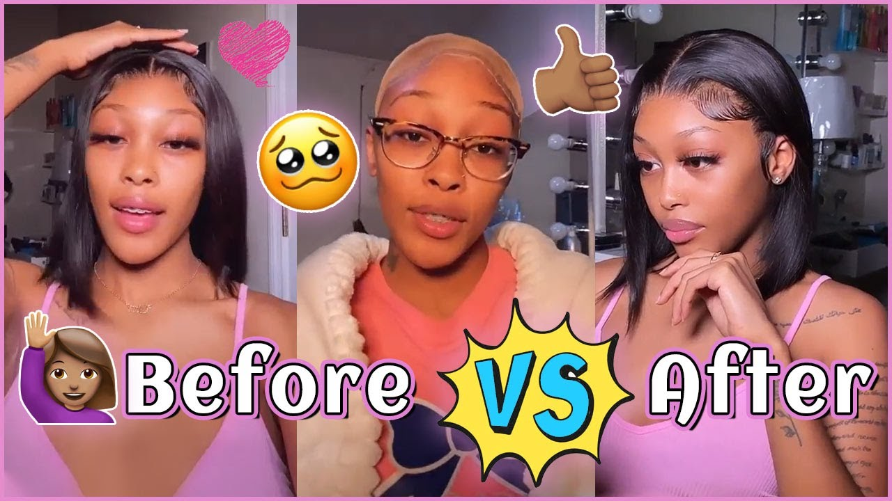 Yep🥱 HD Lace Bob Wig Install Naturally #Elfinhair Review~ She's So Pretty With It~