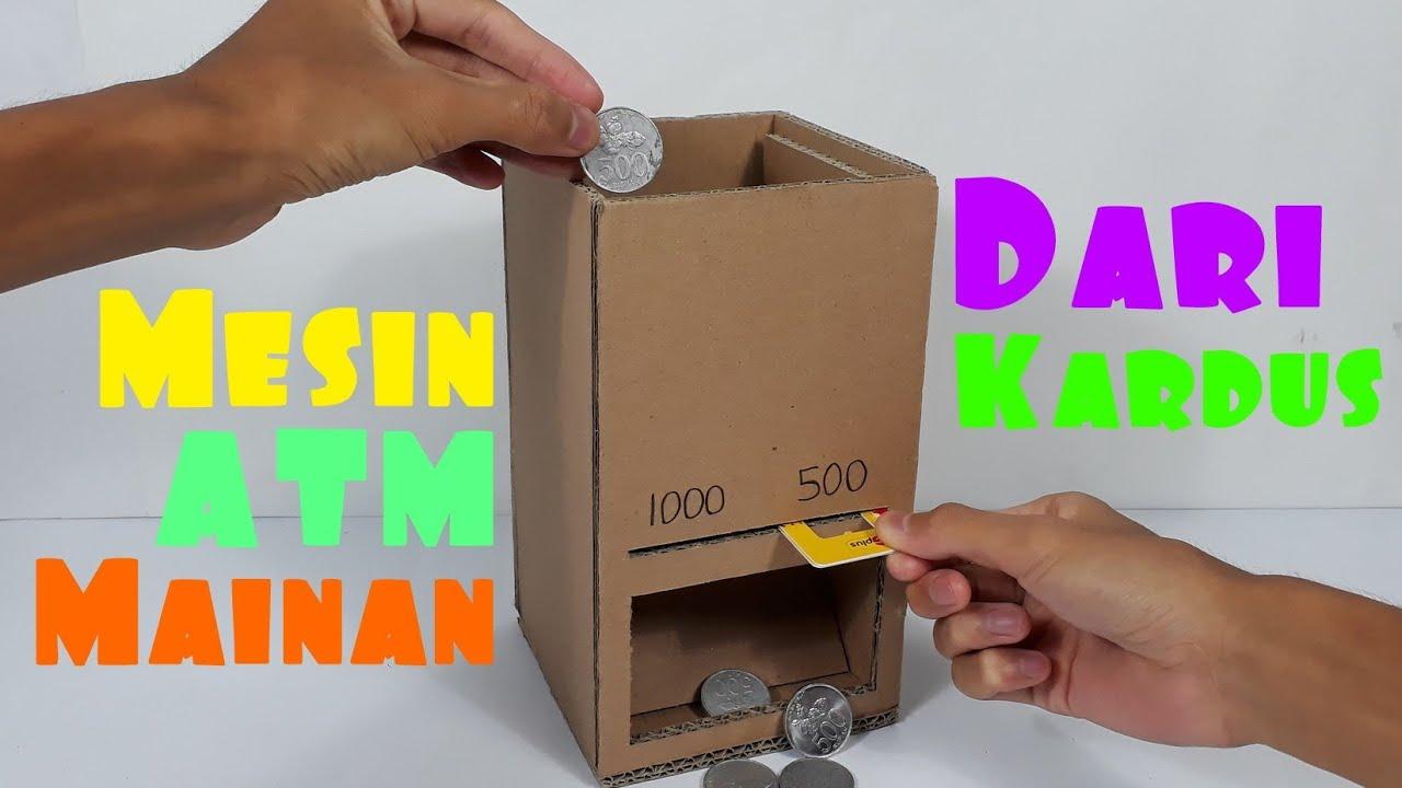 Cara membuat mesin atm koin mini dari kardus - YouTube