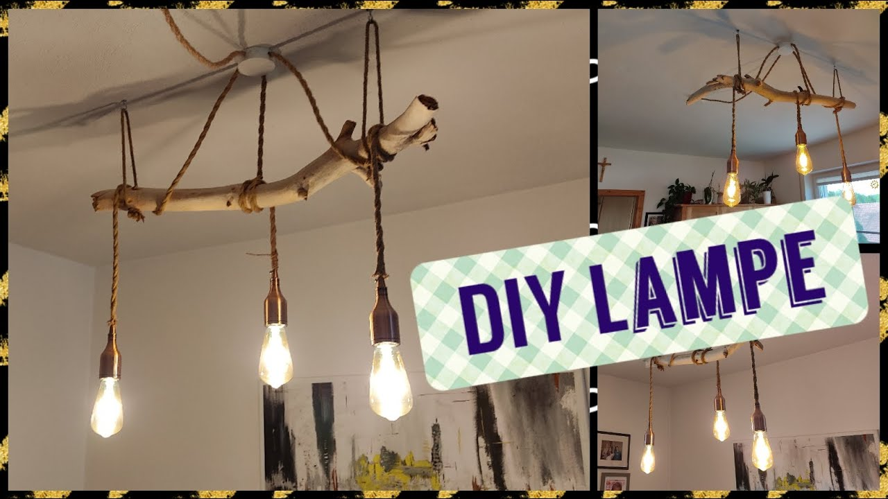 Lampe Selber Gestalten Diy Lampe Aus Ast Selber Machen - Make A Diy Lamp From A Branch Yourself - Youtube