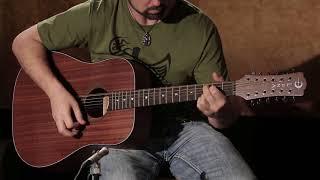 Gypsy Dreadnought 12 String Mahogany by Luna Guitars