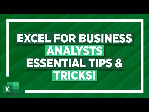 Excel for Business Analysts Crash Course (XLOOKUP, IF, Forecast Sheets & More!)