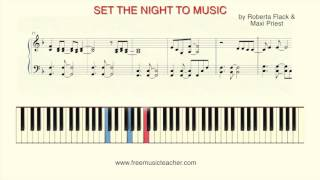"How To Play Piano: ""Set the Night to Music"" by Roberta Flack & Maxi Priest"