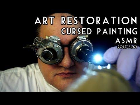 Art Restoration Cursed Painting ASMR