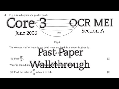 OCR MEI C3 Past Paper Walkthrough (Section A)(June 2006)