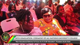 20th Graduation Ceremony of All Nations University College