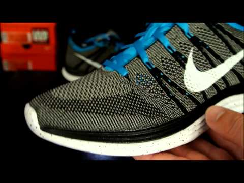 Nike Flyknit One+ Black/ White/ Light Charcoal - Teal