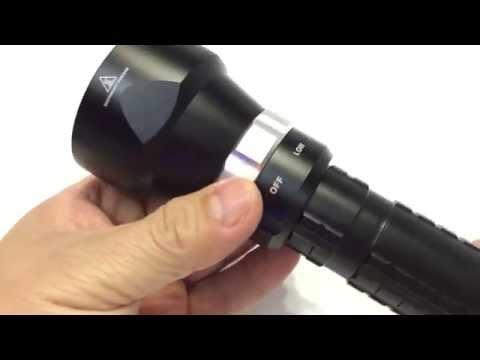 SecurityIng 3200 Lumens LED Diving Flashlight Super Bright, Depth 100 Meters