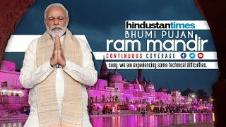 PM Modi lays Ram Temple foundation stone in Ayodhya