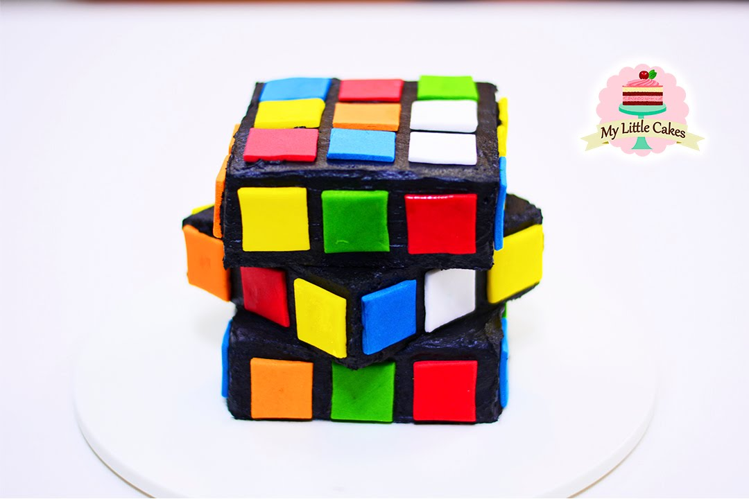 rubik cube cake my little cakes youtube