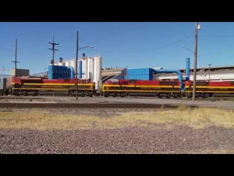 Kansas City Southern 3973 leads a freight south through Granite City Illinois