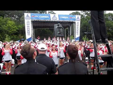 Jacksonville State Marching Southerners Band Playing Fight Song At The FCS Guardian Credit Union