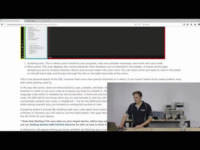 Getting Started with Particle Photon - Tutorial Australia