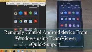 Remotely Control Android device From Windows using TeamViewer QuickSupport