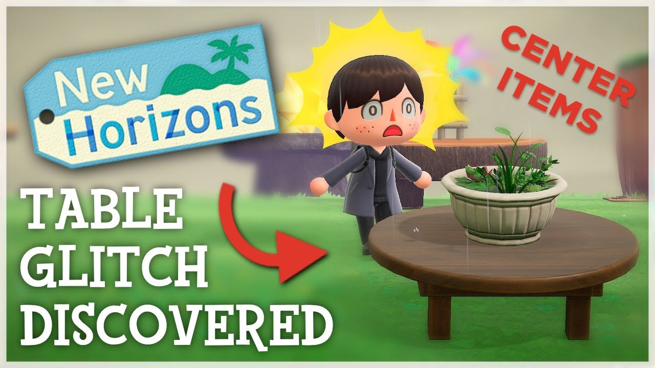 Animal Crossing New Horizons - TABLE GLITCH DISCOVERED (ACNH Tips & Tricks)