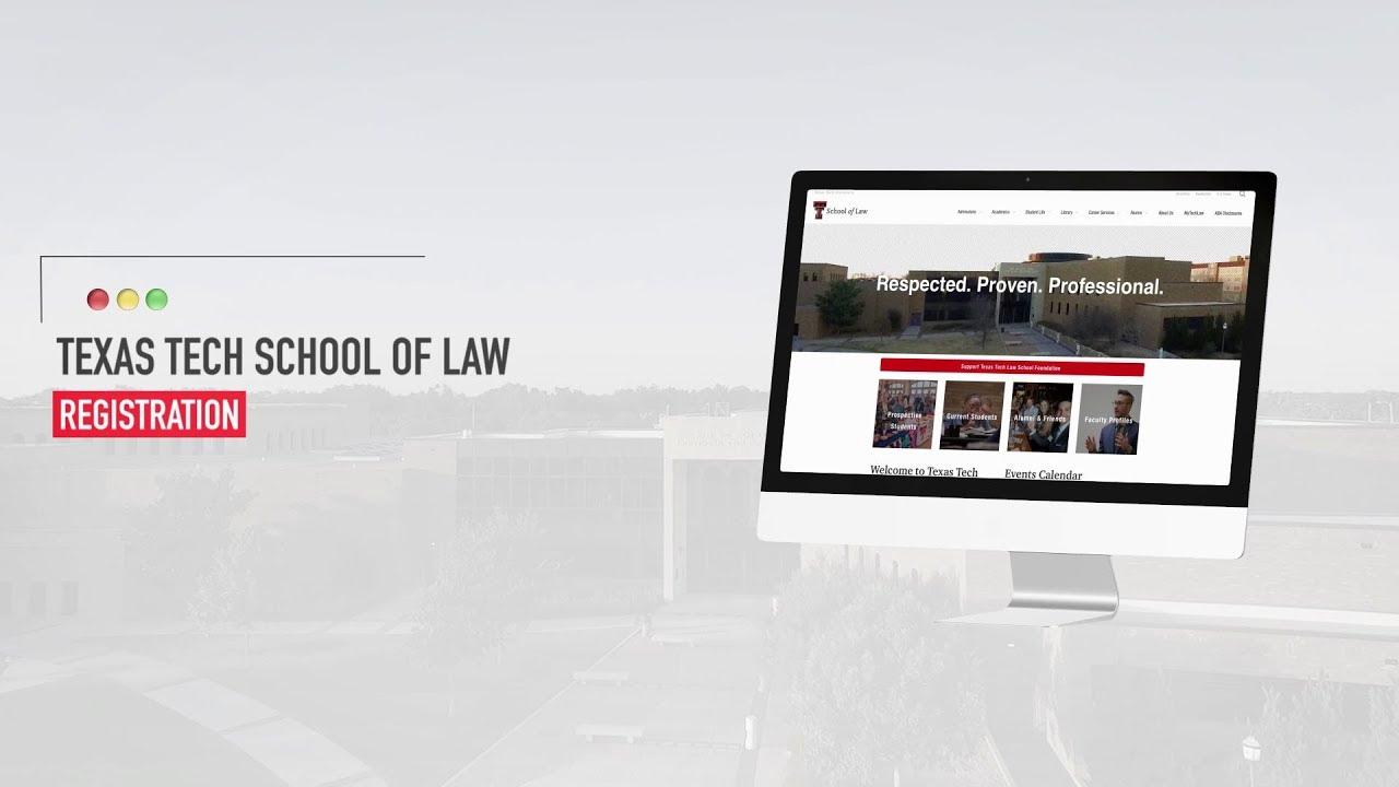 Texas Tech Calendar 2022.Registration Information Office Of The Registrar Academics School Of Law Ttu