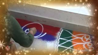 Learn Rangoli: How To Make Side Corner Rangoli Designs