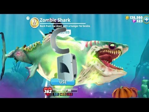 Hungry Shark World Zombie Shark  Android Gameplay