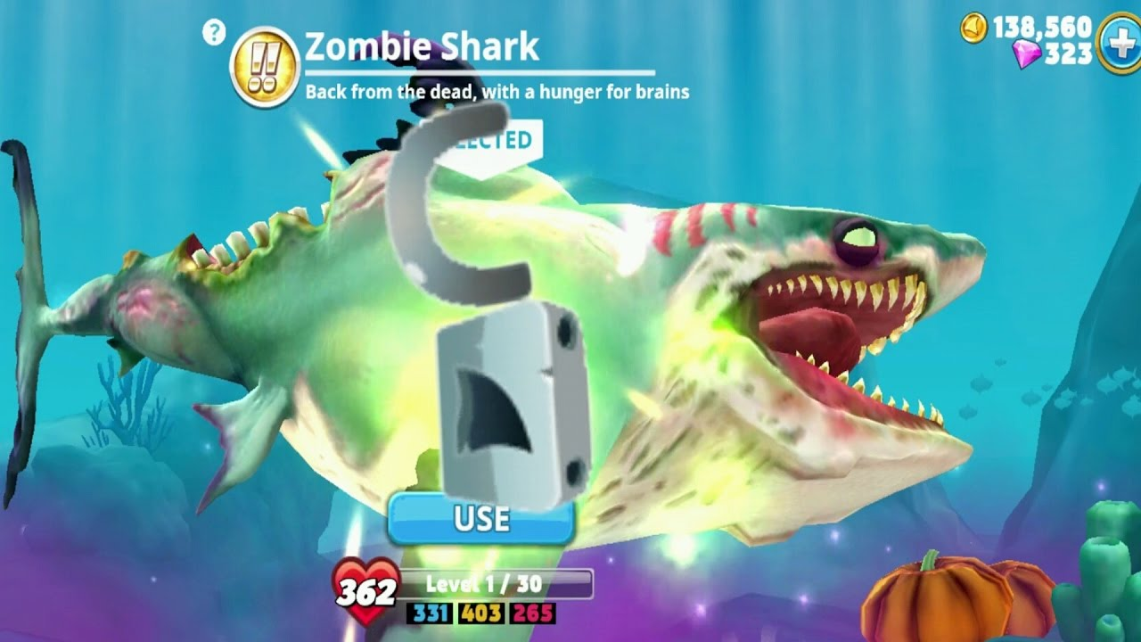 Hungry Shark World Zombie Shark Android Gameplay