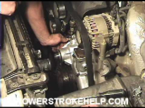 Ford F250 Diesel >> 7.3 WATER PUMP INSTALL4 OF 8 FORD POWERSTROKE DIESEL - YouTube