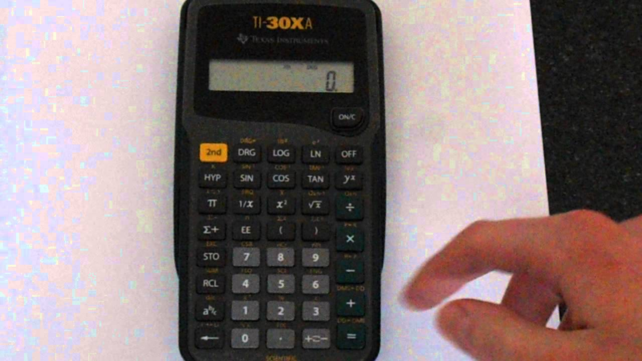 TI-30XA: Change The Dumber of Decimal Places Shown