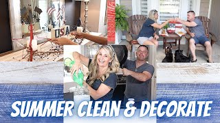 SUMMER CLEAN AND DECORATE WITH ME 2021 | *PLUS* COOKING WITH JASON