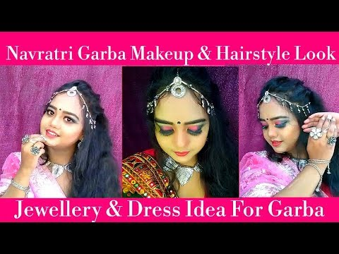 Navratrigarba Makeup And Hairstyle Tutoriallomg Lasting Look 2018