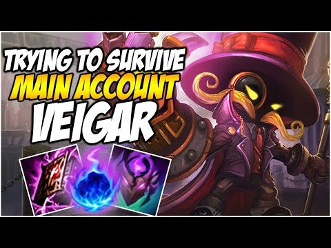 TRYING TO SURVIVE ON VEIGAR - Climb to Master S8 | League of Legends