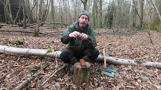 Knife and Axe Sharpening With King Ice Bear Waterstone