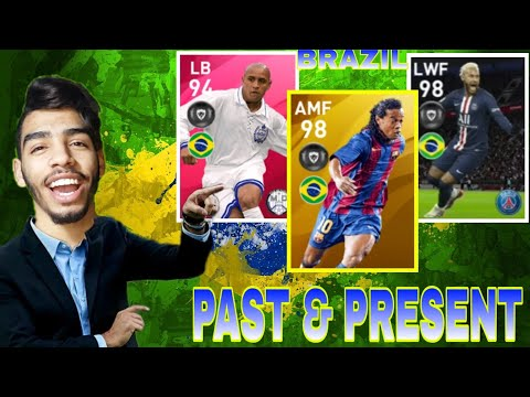 BRAZIL PAST AND PRESENT  SQUAD BUILDER 🔥 PES 20 MOBILE #01