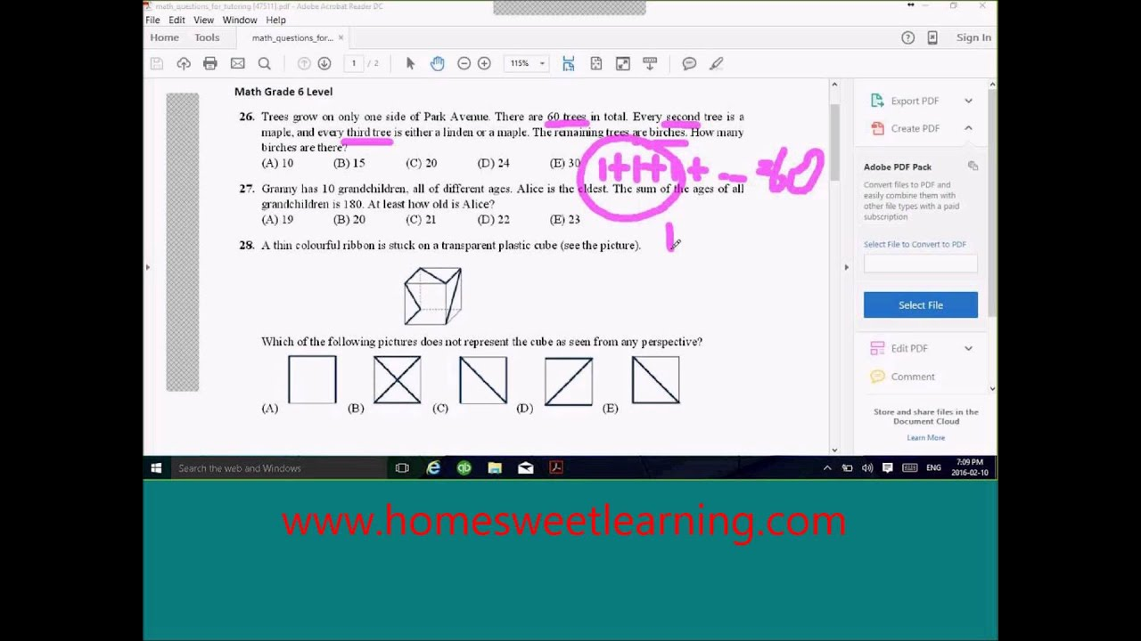Worksheet Level 5 Maths Problems level 5 maths problems laptuoso math kangaroo 6 2014 question 26 solution youtube