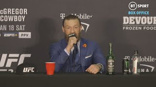 Full Conor McGregor post-fight press conference after beating Cowboy at UFC 246