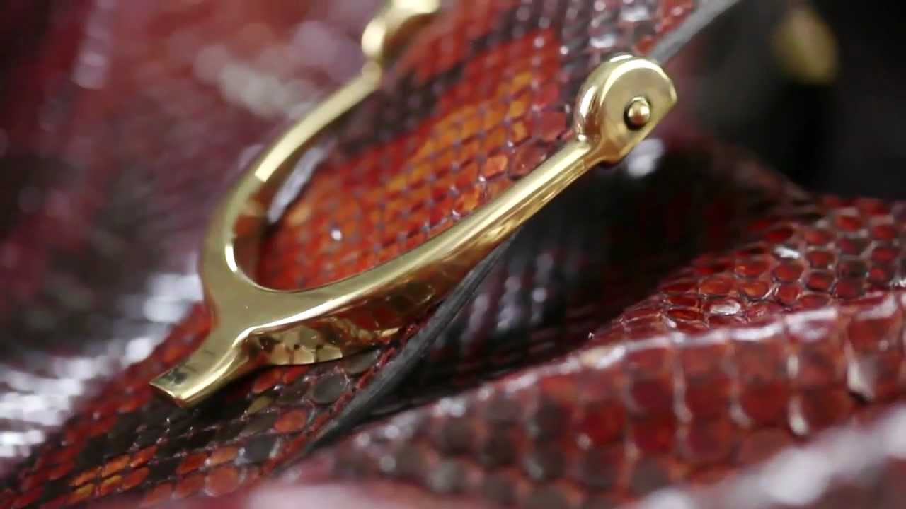 2567f47816f161 The Gucci Soft Stirrup Bag: The Making Of - YouTube