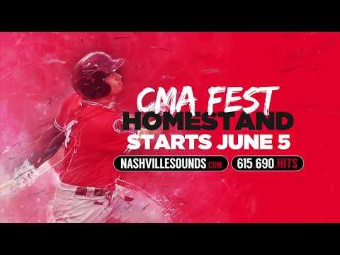 Nashville Sounds CMA Fest Homestand
