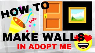 How to Make Walls in Roblox ADOPT ME!