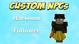custom NPCs: Урок 7: Наемники, Компаньон за деньги
