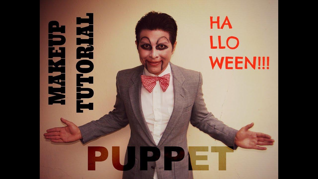 puppet makeup tutorial for man halloween maquillaje de ttere para hombre youtube